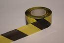 Afspærringsbånd gul / sort, plast, 500 m