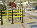 Påkørselsbeskyttelse Beskyttelsesrækværk Kilan, balk, L 1530 mm, ø 63mm, 3 st/fp